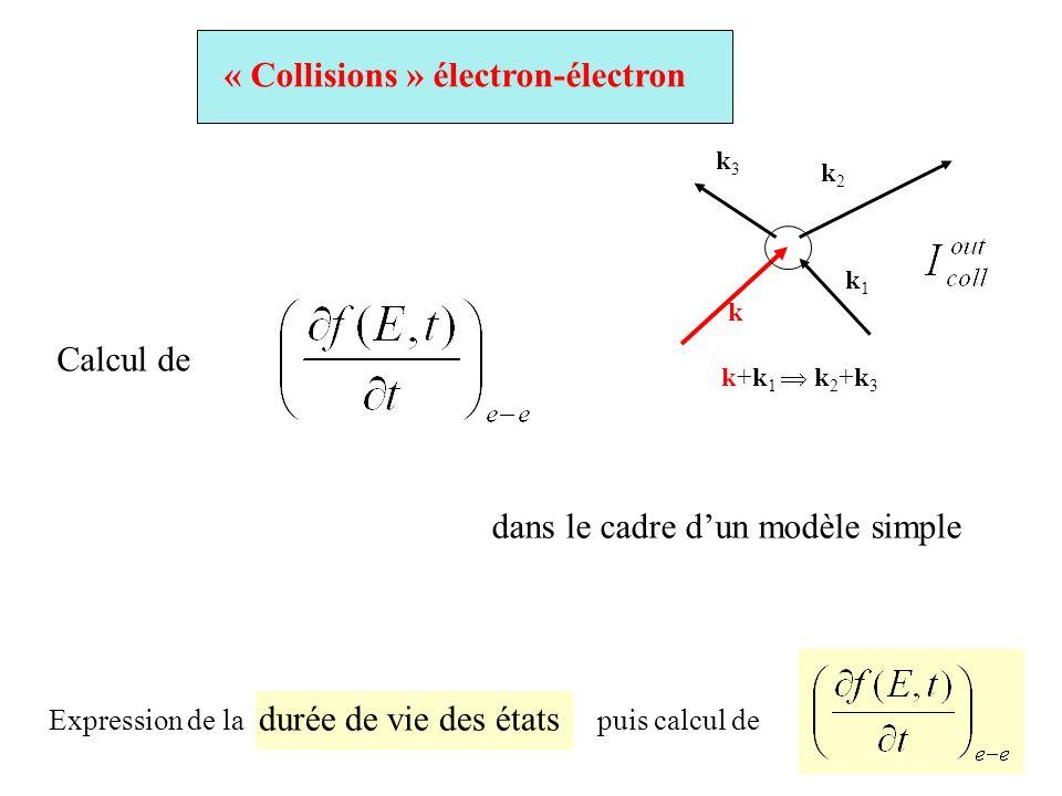 « Collisions » électron-électron