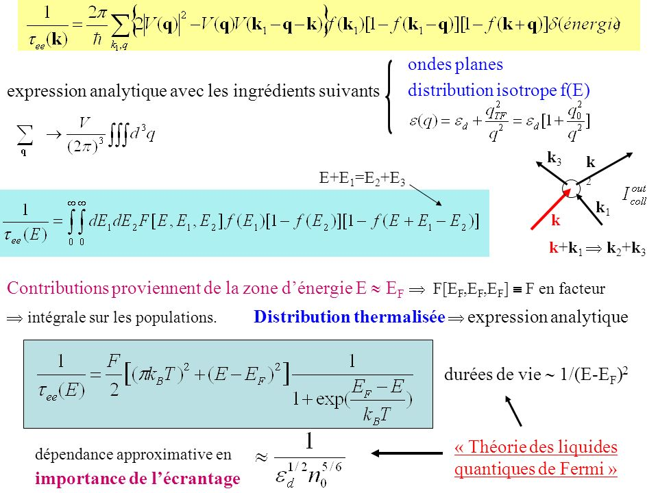 distribution isotrope f(E)