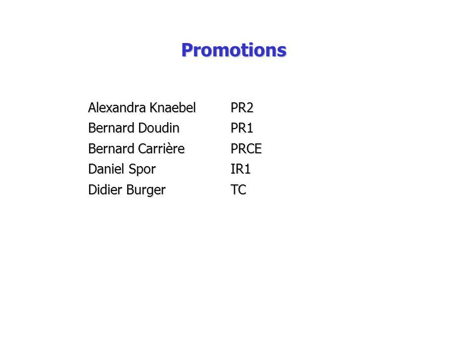 Promotions Alexandra Knaebel PR2 Bernard Doudin PR1