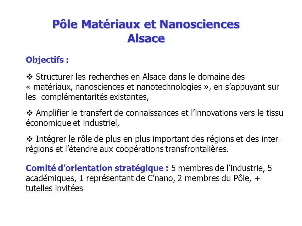 Pôle Matériaux et Nanosciences Alsace