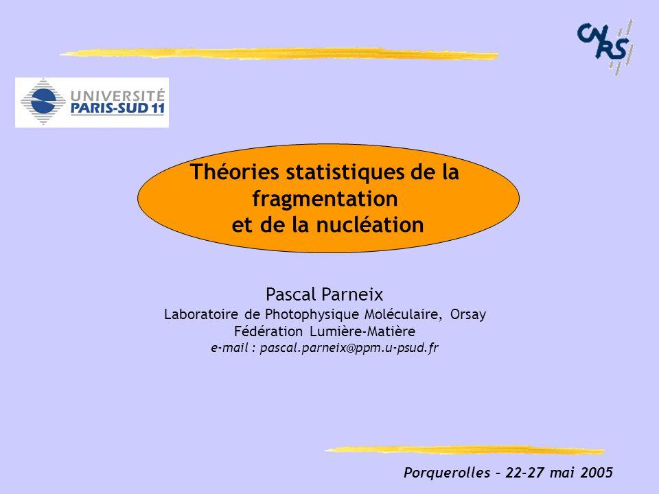 Théories statistiques de la