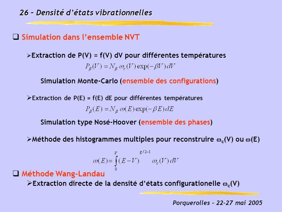 26 – Densité d'états vibrationnelles