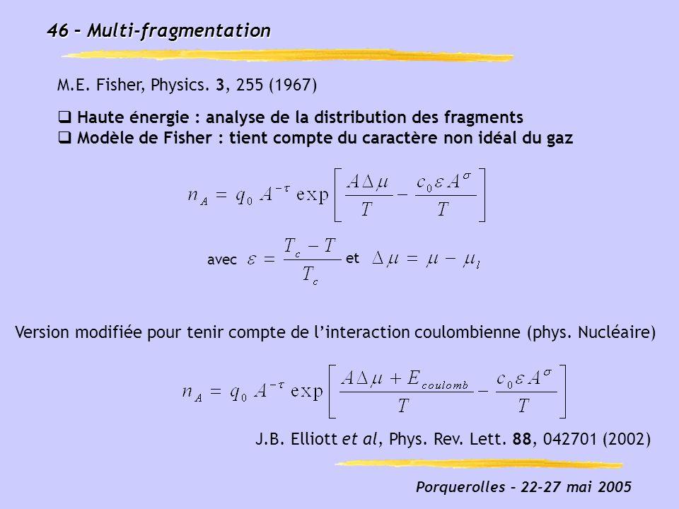 46 – Multi-fragmentation
