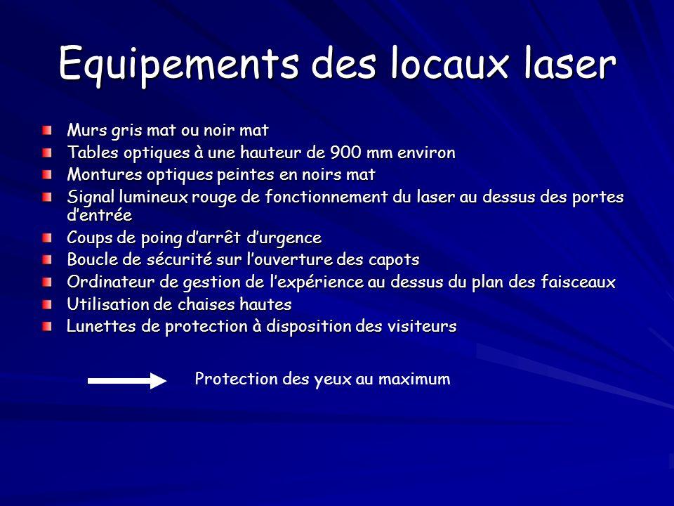 Equipements des locaux laser