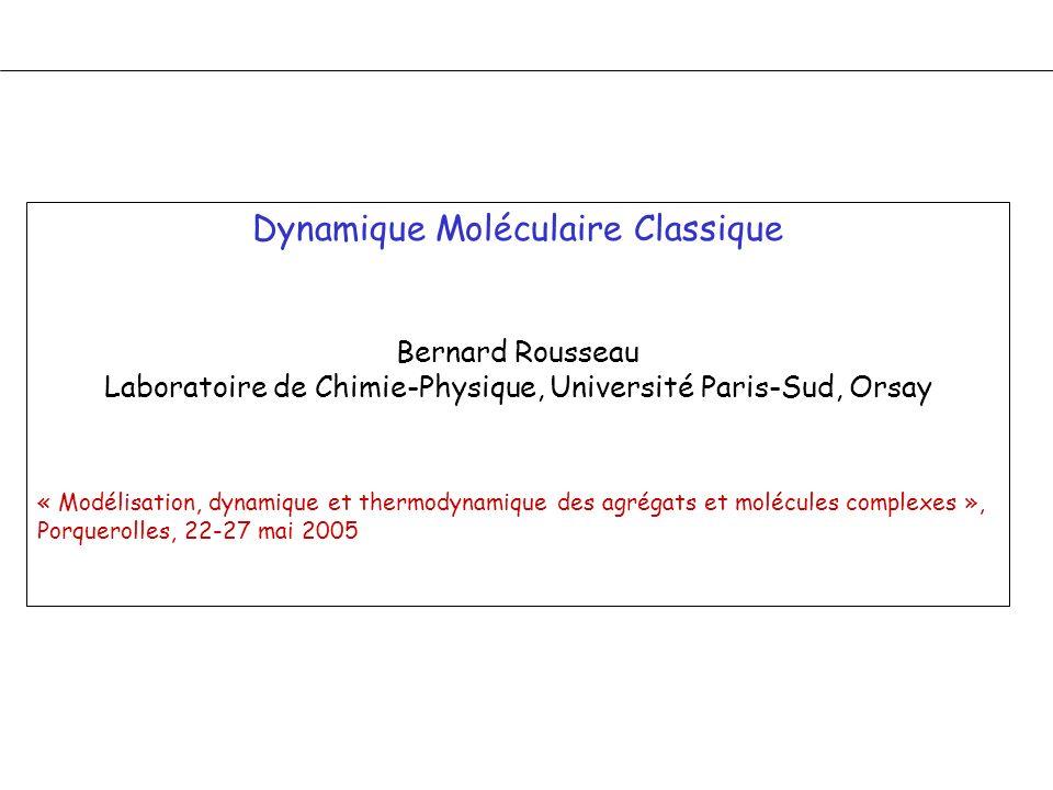 Dynamique Moléculaire Classique