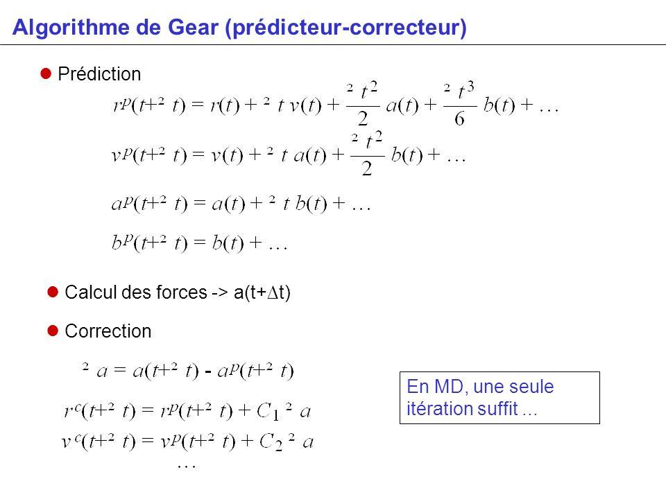 Algorithme de Gear (prédicteur-correcteur)
