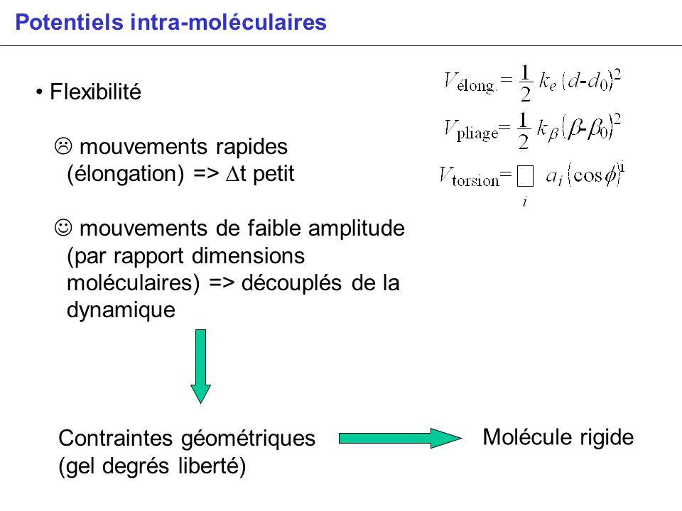 Potentiels intra-moléculaires