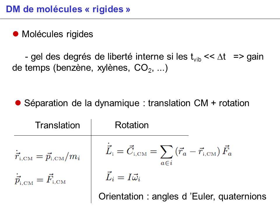 DM de molécules « rigides »