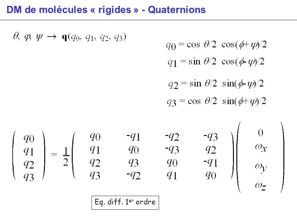 DM de molécules « rigides » - Quaternions