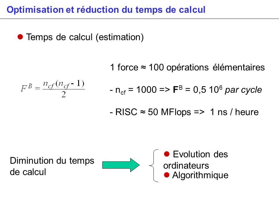 Optimisation et réduction du temps de calcul
