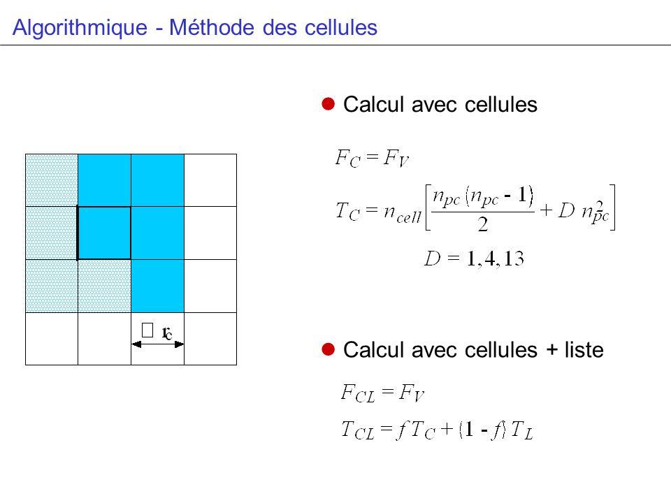 Algorithmique - Méthode des cellules