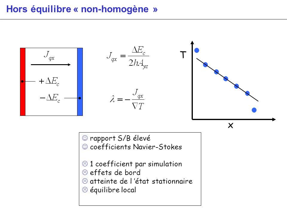 Hors équilibre « non-homogène »