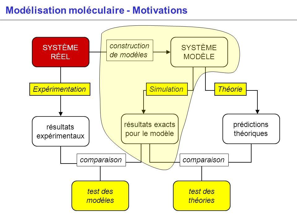 Modélisation moléculaire - Motivations