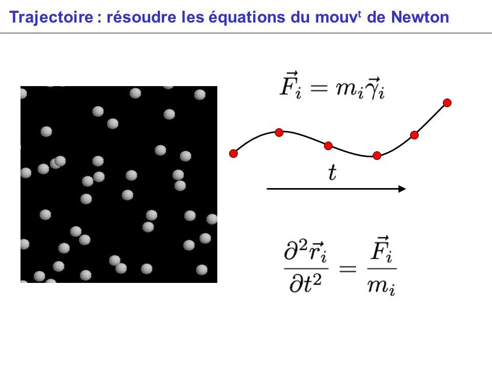 Trajectoire : résoudre les équations du mouvt de Newton