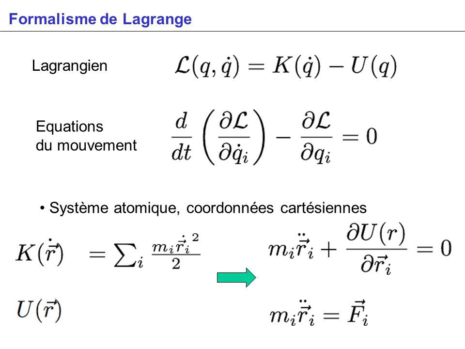 Formalisme de Lagrange