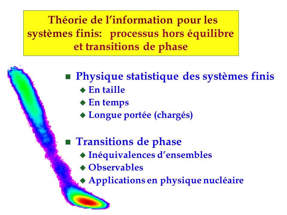 Physique statistique des systèmes finis