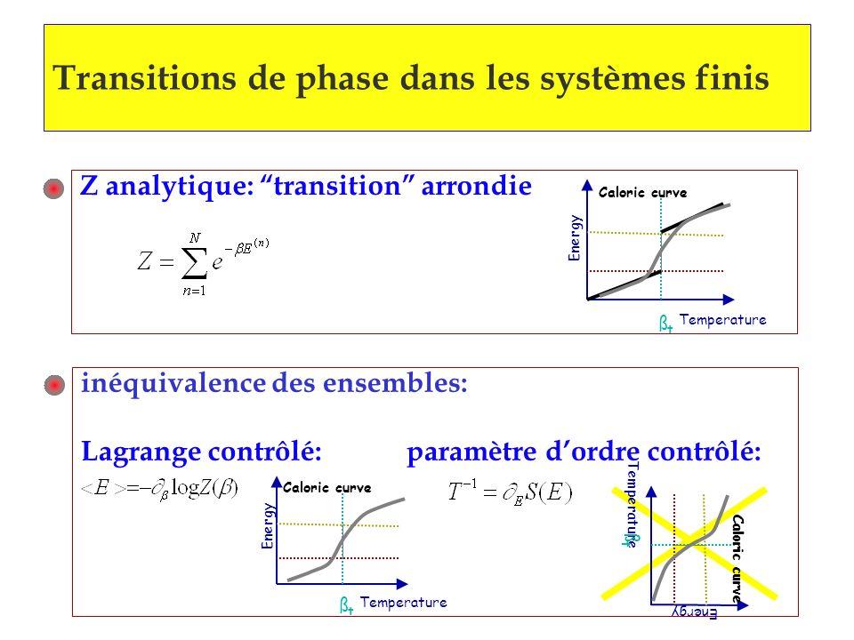 Transitions de phase dans les systèmes finis