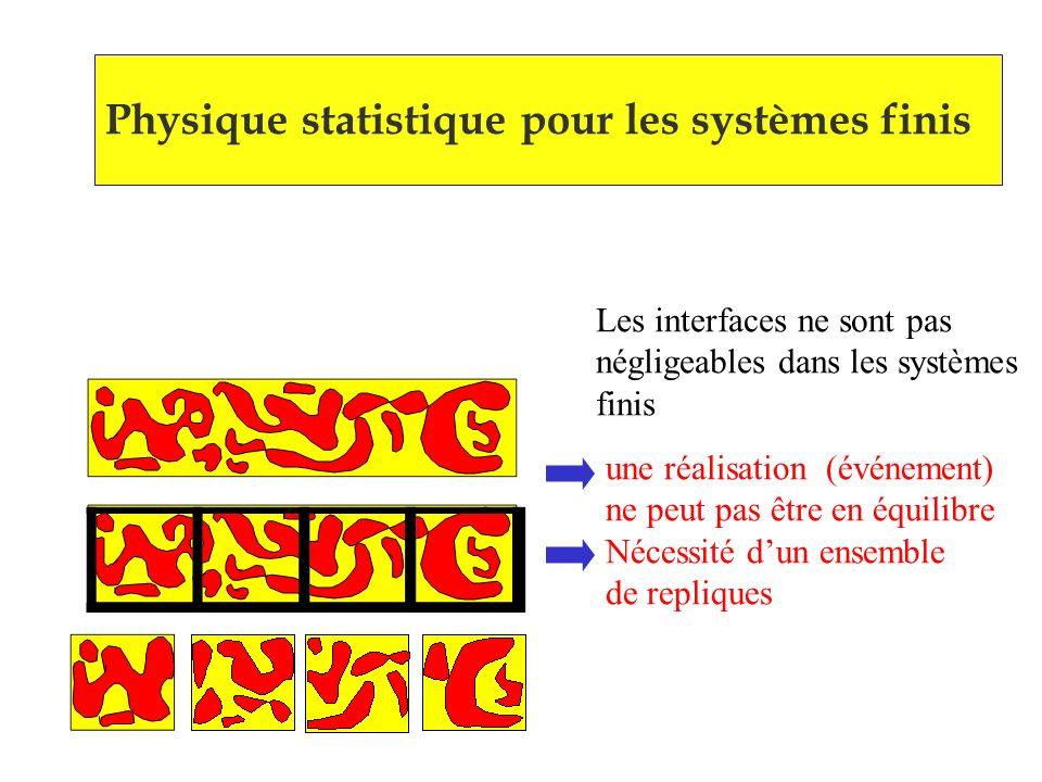 Physique statistique pour les systèmes finis