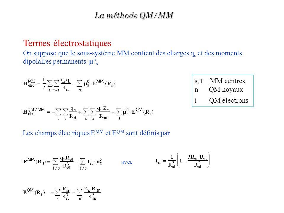 Termes électrostatiques