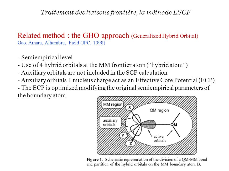 Related method : the GHO approach (Generalized Hybrid Orbital)