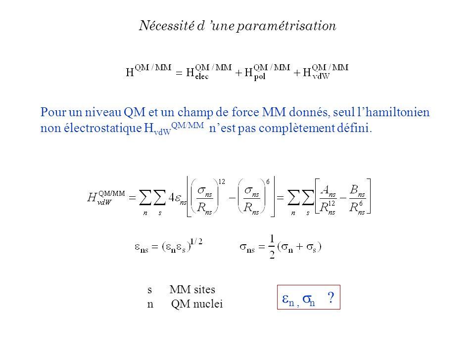 n , n Nécessité d 'une paramétrisation