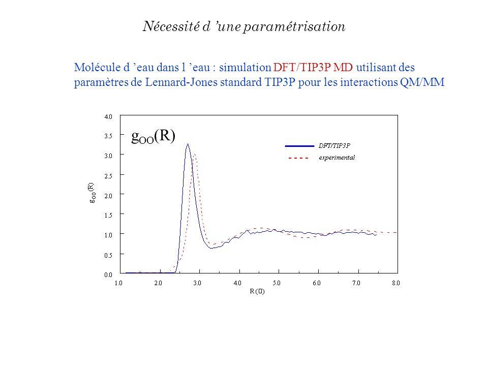 gOO(R) Nécessité d 'une paramétrisation