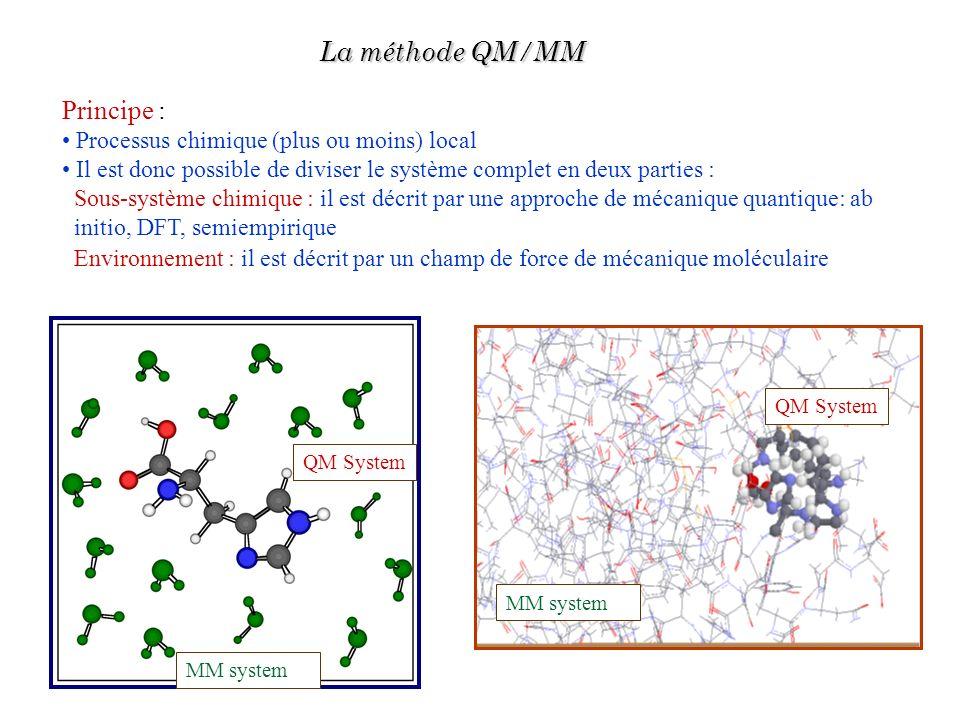 La méthode QM/MM Principe : Processus chimique (plus ou moins) local