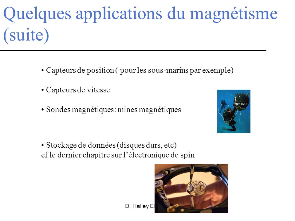 Quelques applications du magnétisme (suite)