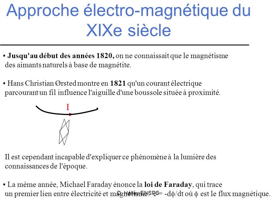 Approche électro-magnétique du XIXe siècle