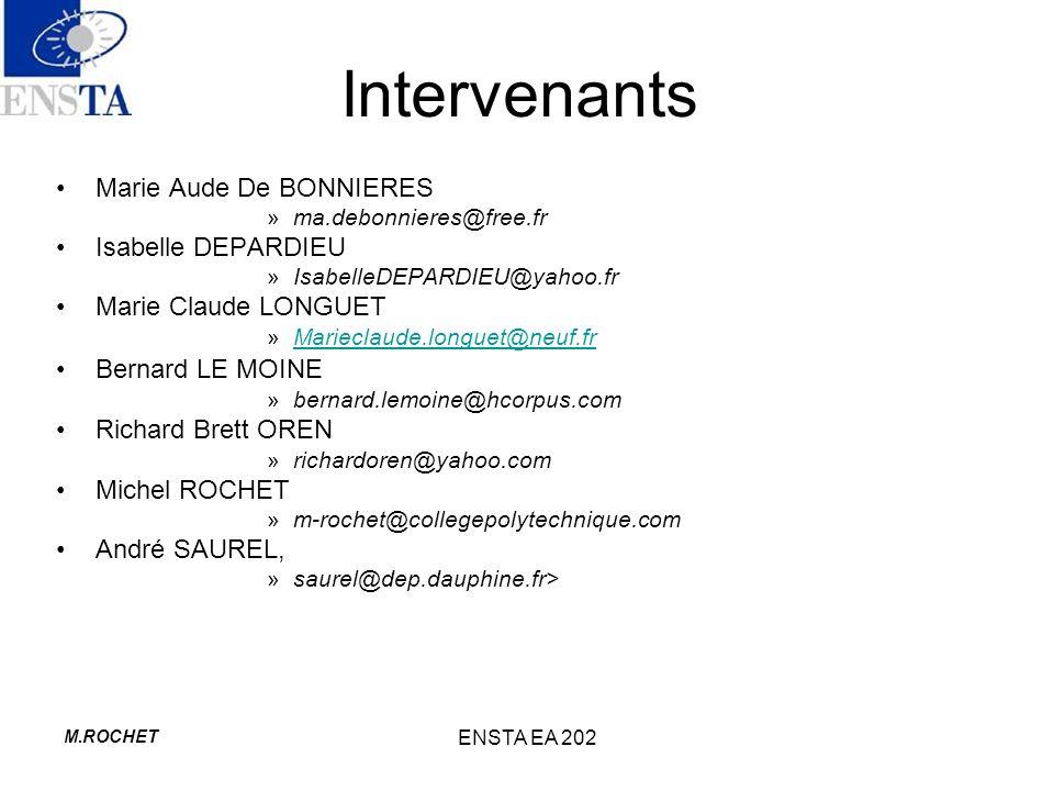 Intervenants Marie Aude De BONNIERES Isabelle DEPARDIEU