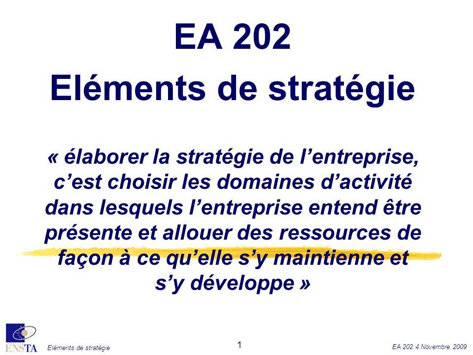 EA 202 Eléments de stratégie