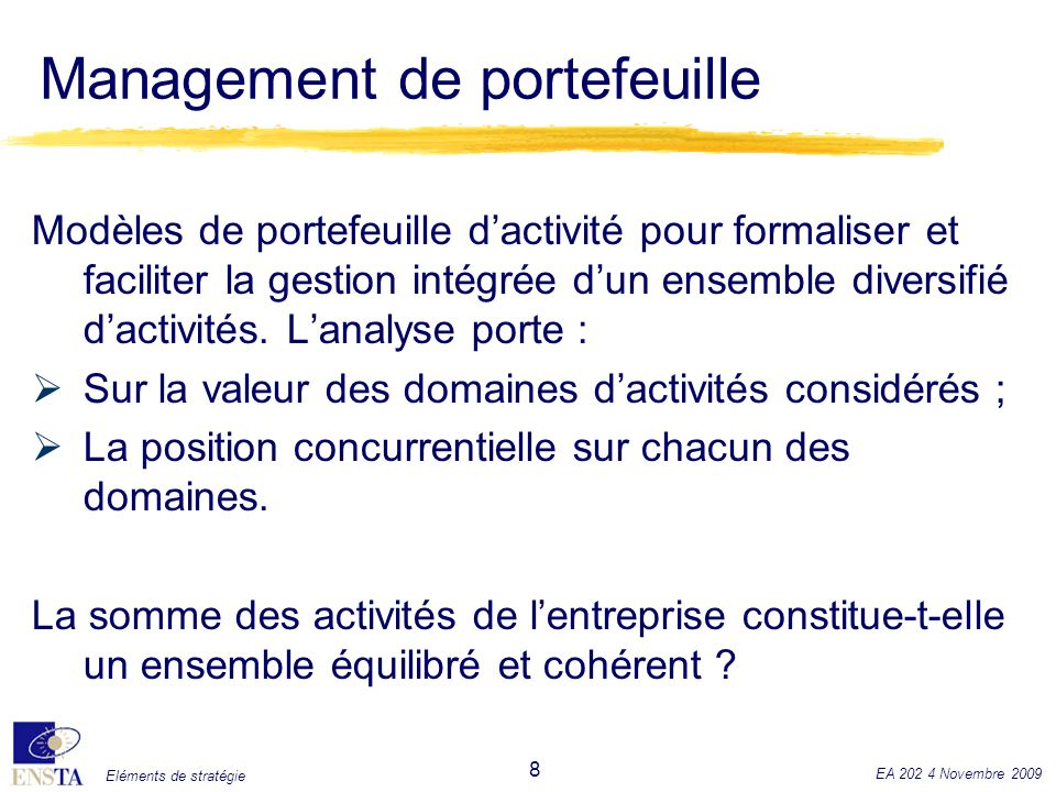 Management de portefeuille