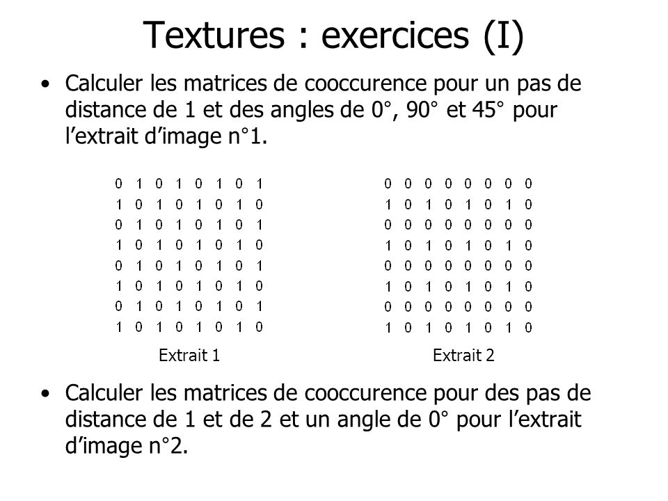Textures : exercices (I)