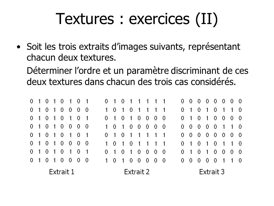 Textures : exercices (II)