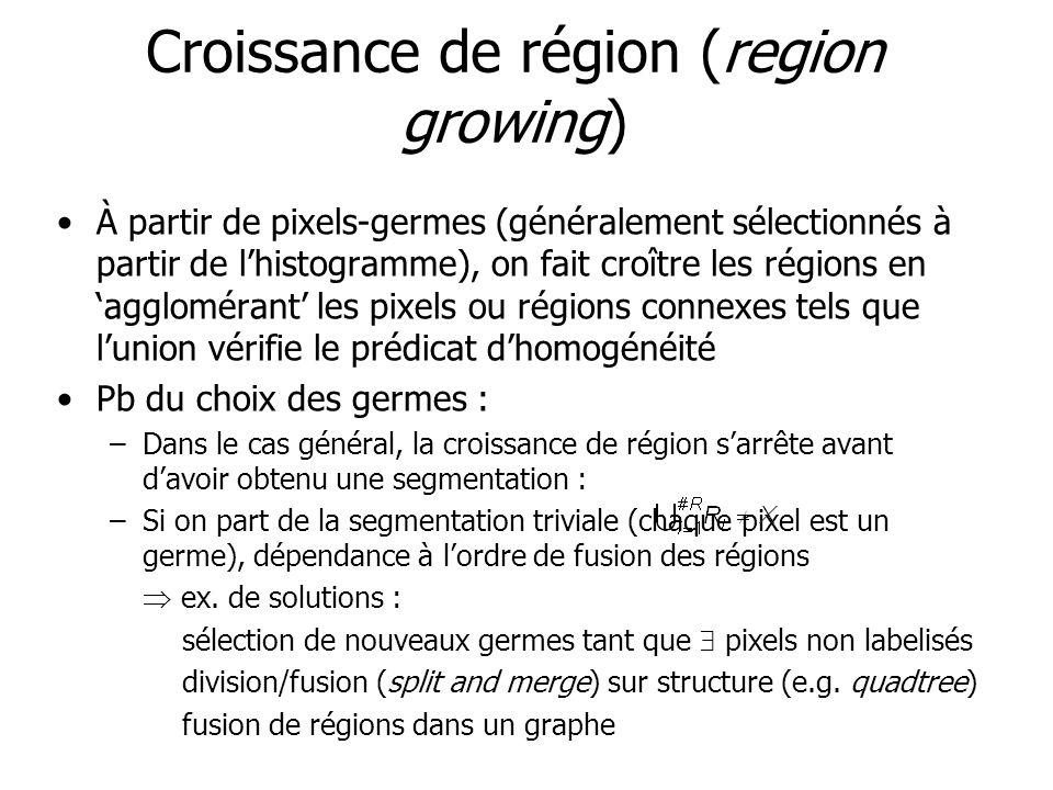 Croissance de région (region growing)