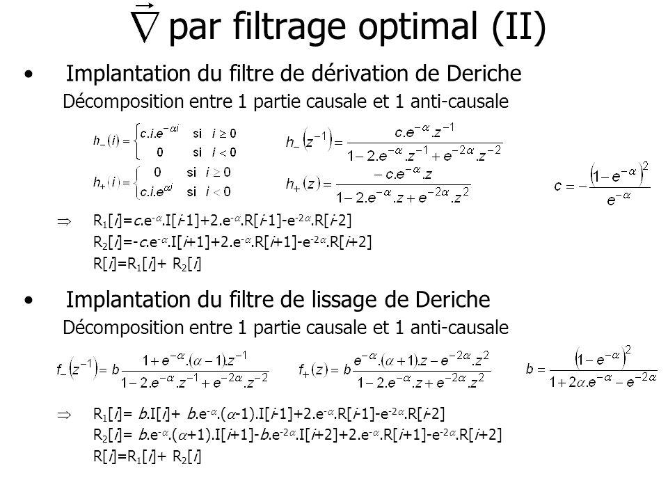 par filtrage optimal (II)