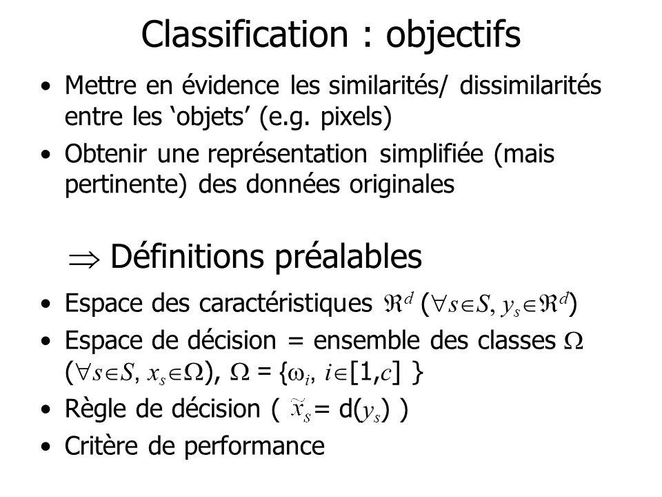 Classification : objectifs