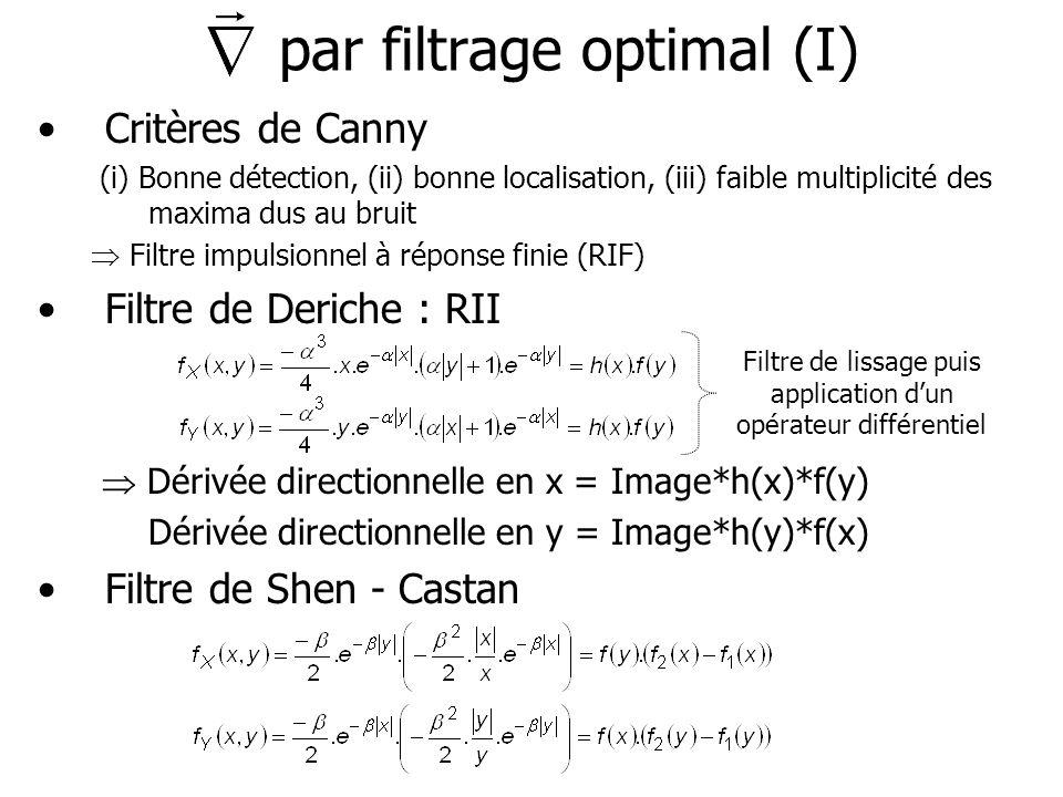 par filtrage optimal (I)