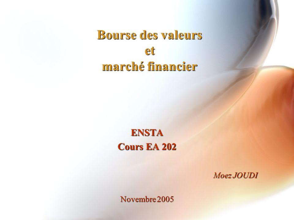 Bourse des valeurs et marché financier