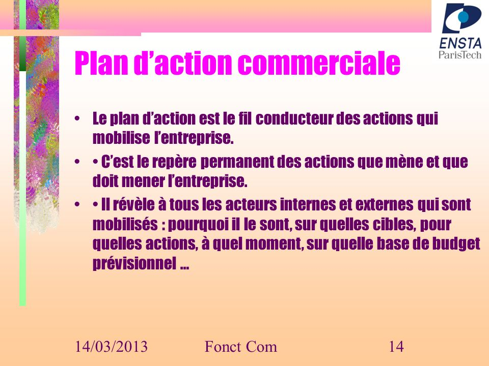 Plan d'action commerciale