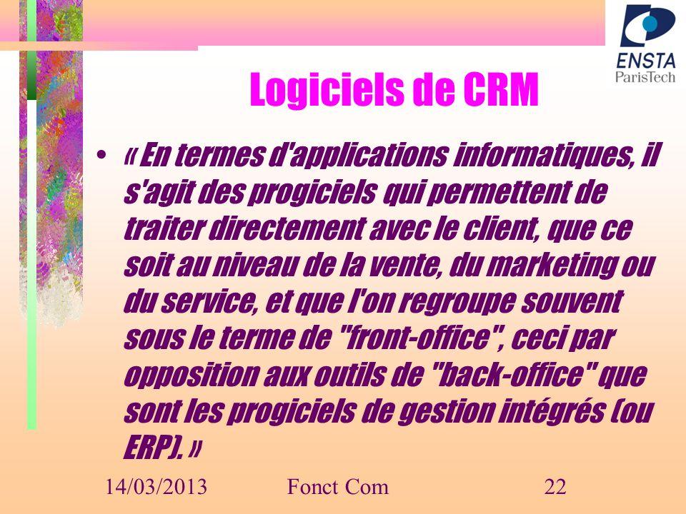 Logiciels de CRM
