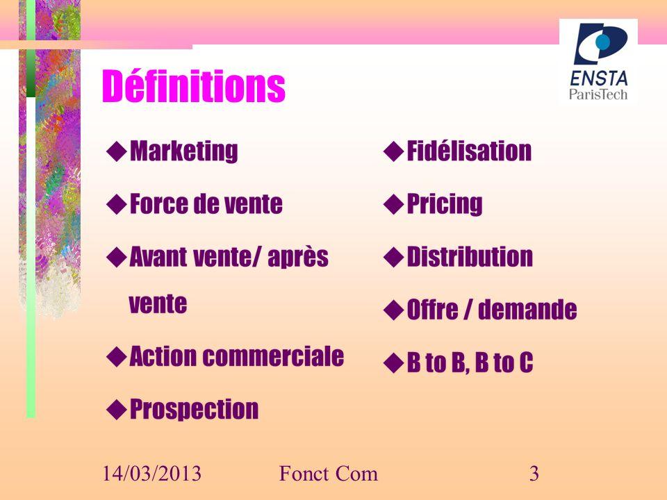 Définitions 14/03/2013 Fonct Com