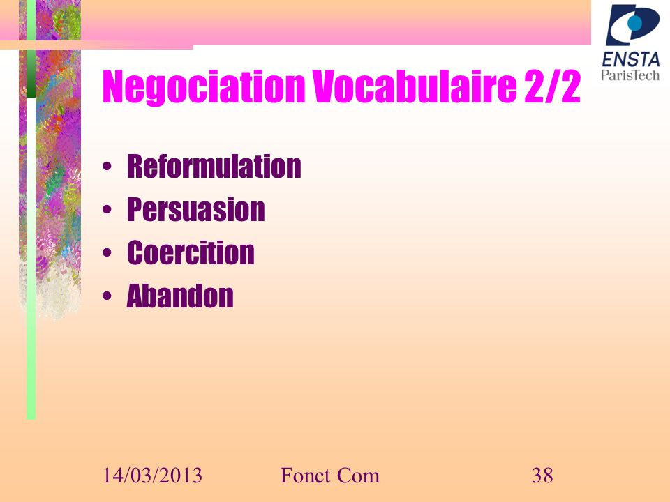 Negociation Vocabulaire 2/2