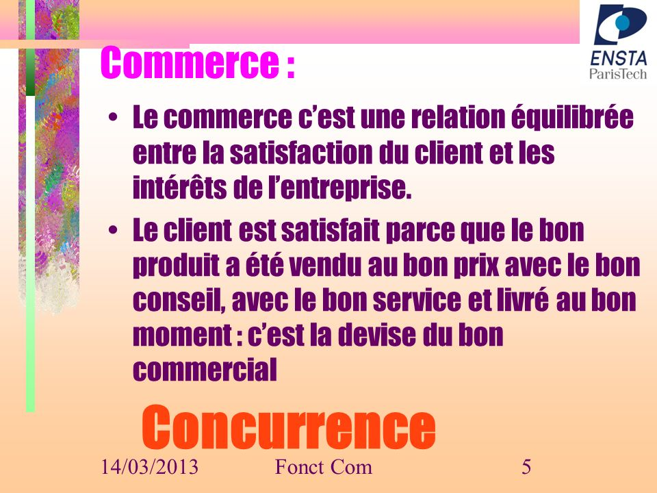 Concurrence Commerce :