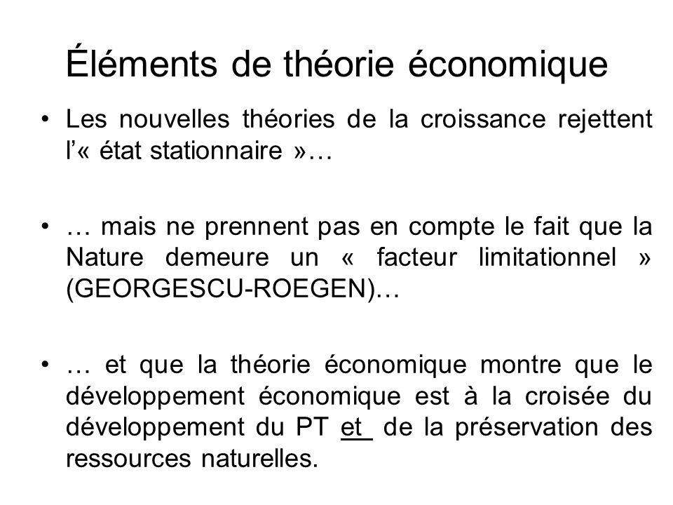 Éléments de théorie économique