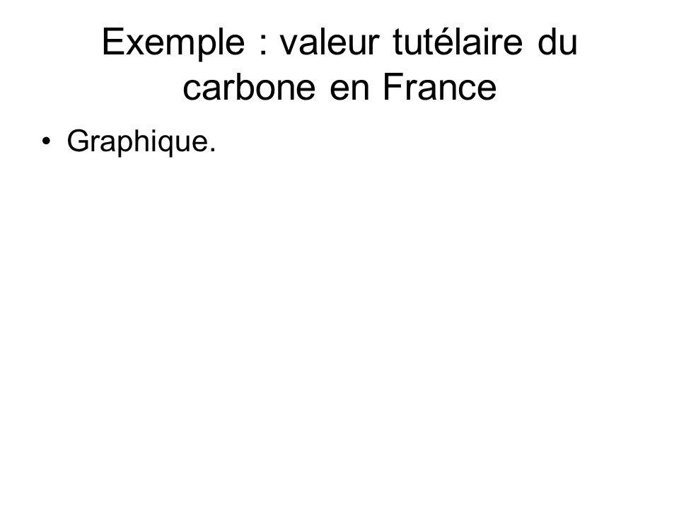 Exemple : valeur tutélaire du carbone en France
