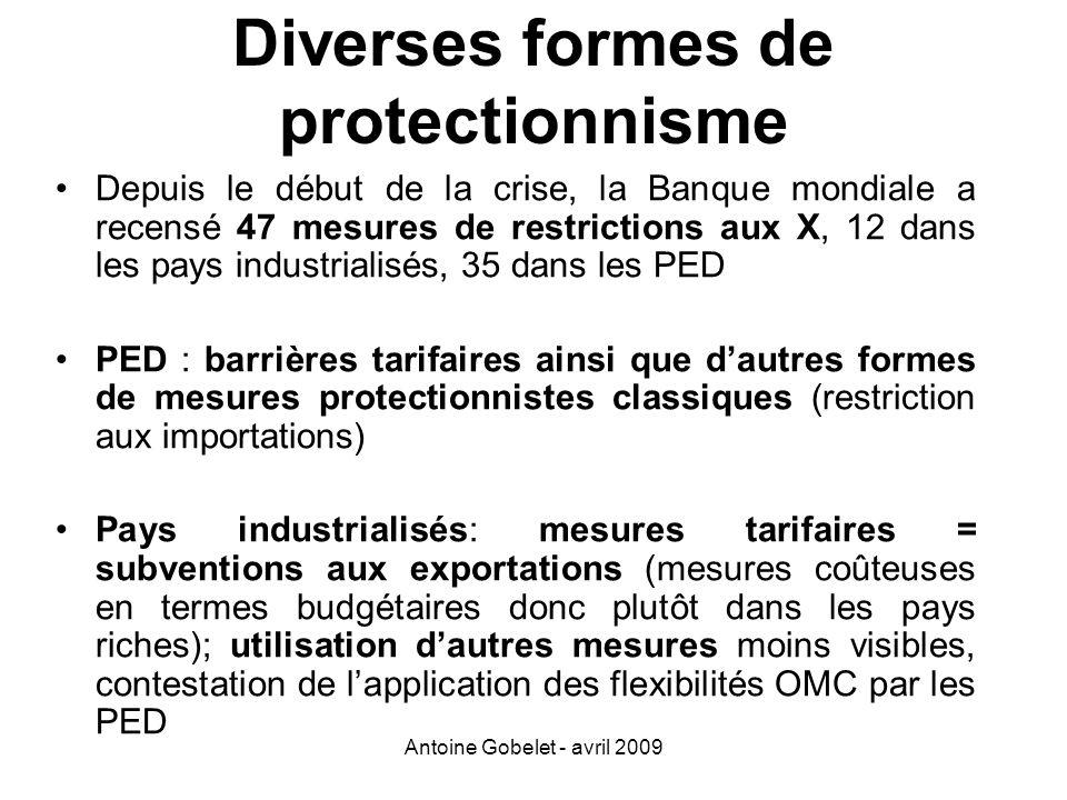 Diverses formes de protectionnisme