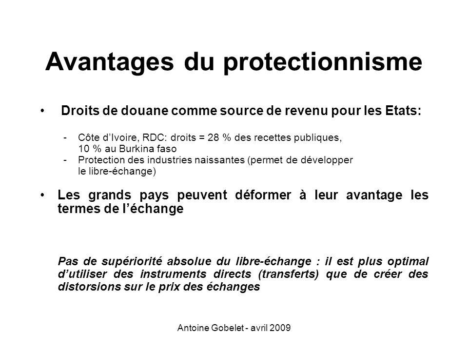 Avantages du protectionnisme
