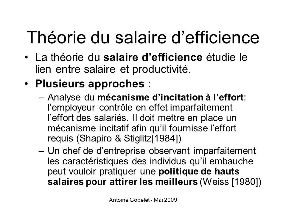 Théorie du salaire d'efficience