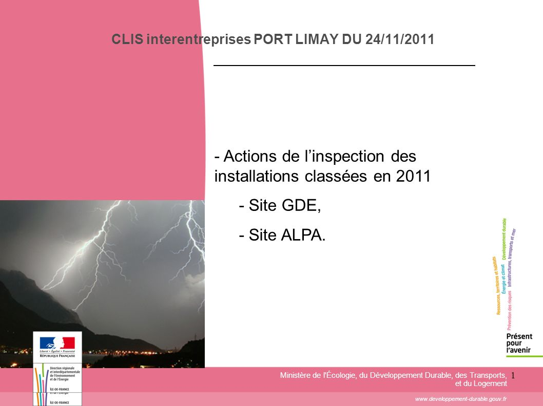 CLIS interentreprises PORT LIMAY DU 24/11/2011